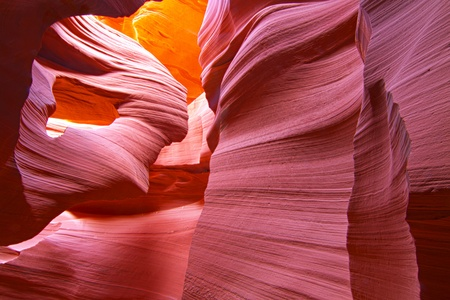 rock canyon: Lower Antelope Canyon in Page, Arizona Stock Photo