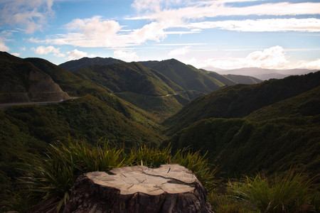 Rimutaka Ranges from the Remutaka Pass Stock fotó