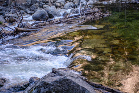 I am glad to take this amazing shot at the amazing Yosemite National Park. The movement of water shows the contrast of quiet and dynamic.