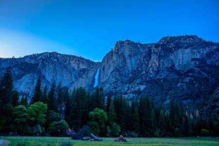 I am glad to take amazing shots at the amazing Yosemite National Park. Waterfall is the symbol of Yosemite. Stock Photo