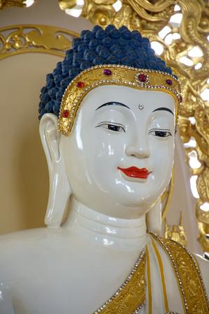 respectful: Close up Respectful Peaceful Buddha
