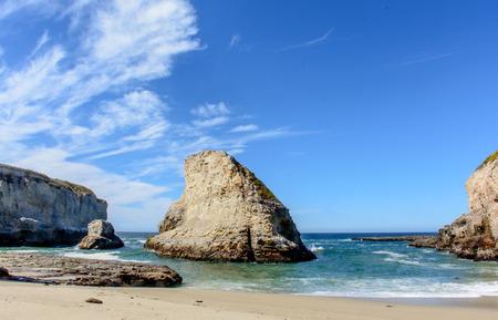Santa Cruz Shark Fin Cove Under Blue Sky