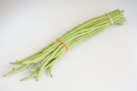 long bean: Light Room Photo of Green cowpea, which also called dolichos sinensis.