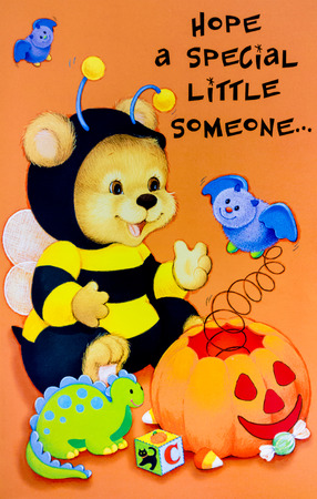 little one: Best Halloween Cartoon Card for Hope a special little one Stock Photo