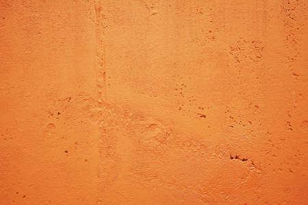 bright orange concrete wall