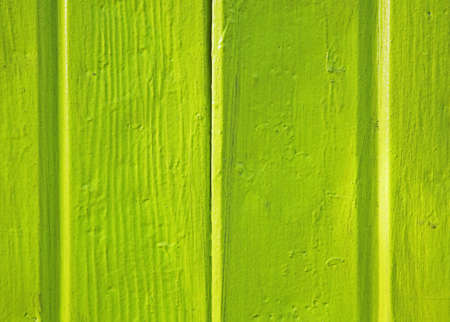 bright green wooden wall