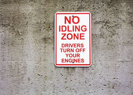 no idling sign Stock Photo