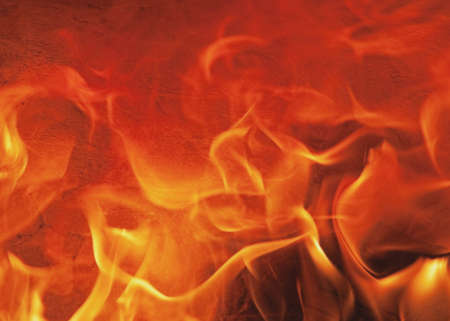 fire in clay oven