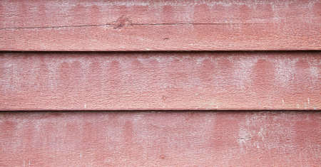 old red painted wood paneling Stock Photo