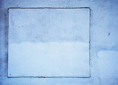 background detail of blue wall with cracks Stock Photo