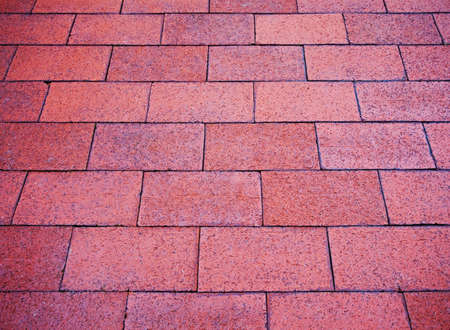 fancy brick pathway in tourist area
