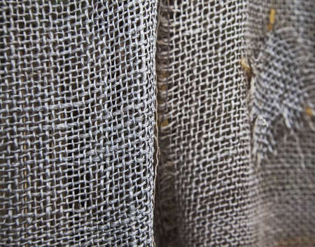 close detail of burlap fabric