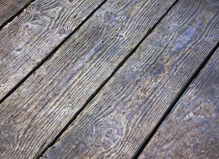 diagonal pattern of planks on pier