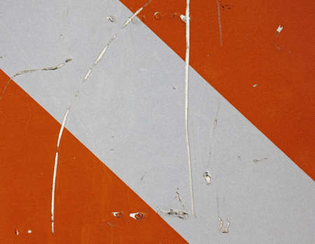 detail of traffic caution sign Stock Photo