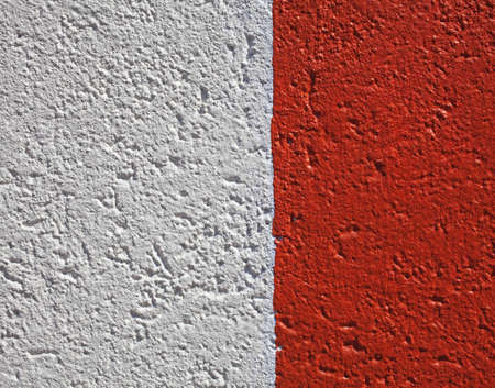 detail of brightly painted concrete wall