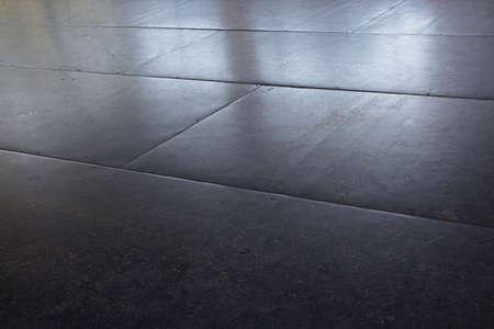 rubberized floor in bumper car ride Stock Photo