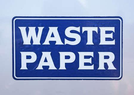 door of waste paper container