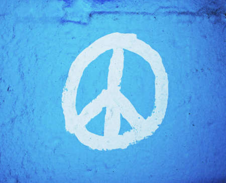 peace symbol painted on wall