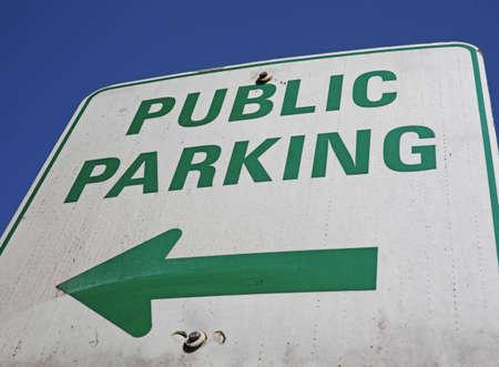 public parking sign