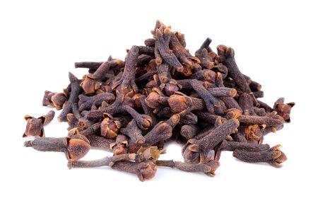 spice  clove  on the white ground Stock Photo