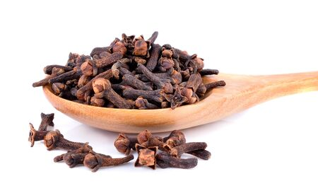 group of objects: clove, cloves, spice, isolated, white, background, heap, food, brown, spices, ingredient, raw, closeup, natural, carnation, dry, aromatic, seasoning, macro, nobody, group, objects, aroma, flavor, spicy