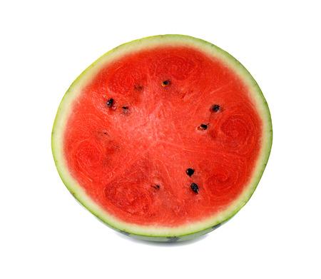 white back ground: watermelon  on the  white  back ground Stock Photo