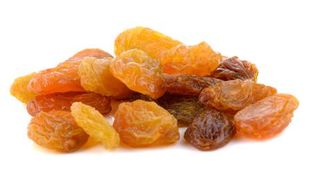 sultana: Raisins dried on white back ground