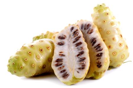 noni: Exotie fruit, noni fruit on white background