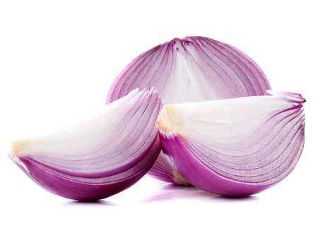onion slice: Onion slice on white background
