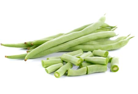 long beans on white background Stock Photo
