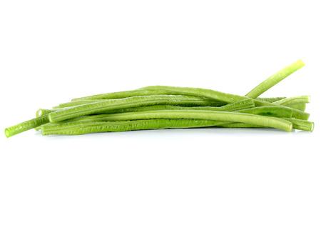 long beans: Long beans  on white background Stock Photo