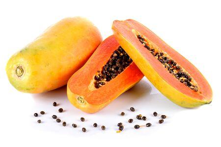 papayas  on  the  white  ground