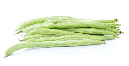 green long bean  on white background
