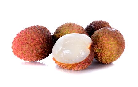 lychee on white background Stock Photo