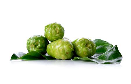 Exotic Fruit, Noni fruits isolated on white background