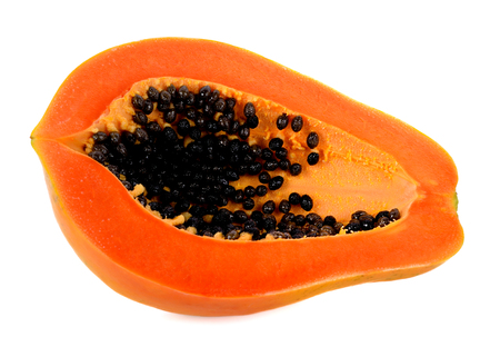 papaya slice isolated on white background Stock Photo - 76794598
