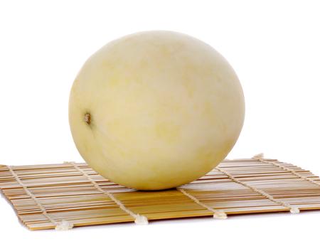 cantaloupe melon slice isolated on white background