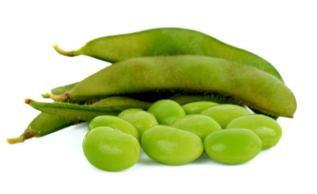 green soybeans Janpan isolated on white background