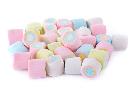 marshmallows candy isolated on white background