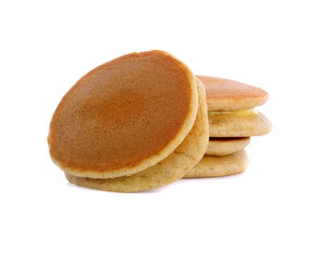 pancakes isolated on white background Фото со стока