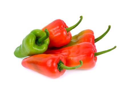 Sweet pepper isolated on white background Stockfoto