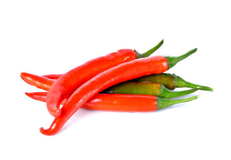 red chili isolated on white background Stock Photo