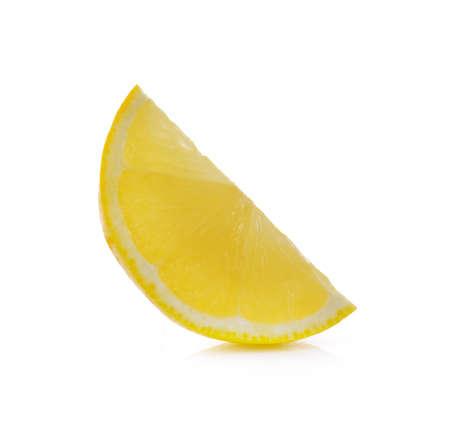 fresh slice lemon isolated on white background