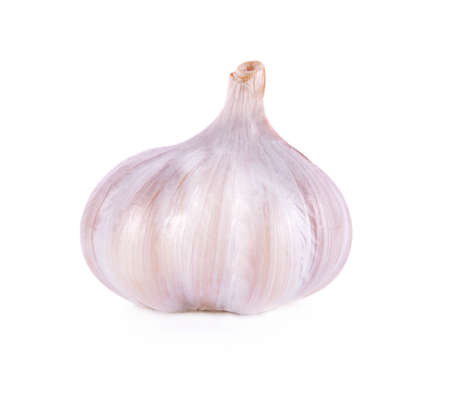 garlic isolated on white background 版權商用圖片