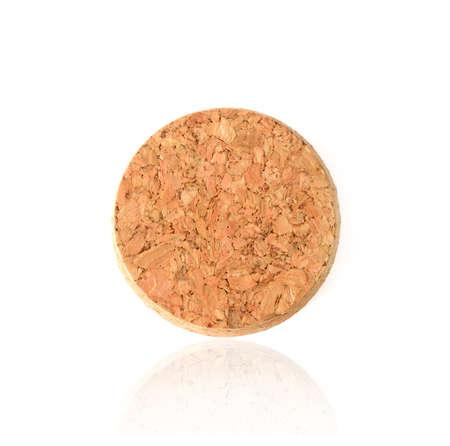 Close up cork isolated on white background Stockfoto