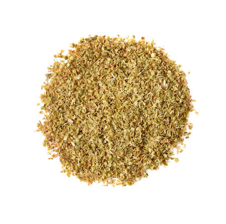 Oregano spice isolated l on white background Banque d'images