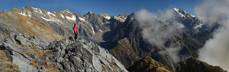 hiking in mountains 版權商用圖片