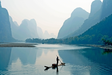 the guilin scenery Stock Photo