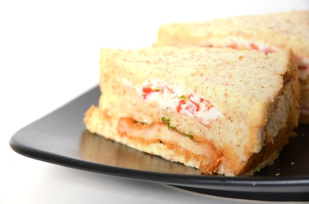 sandwich on white background photo