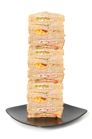 Stack of sandwich photo